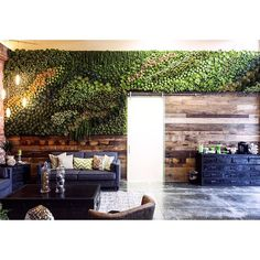 We're swooning over this #succulent #wall installation. Oh did we mention it's #faux? #rollinggreens #beautiful #happymonday