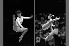 Gymnastics - Classic.  Graceful and poised.  Showing plenty of flexibility!
