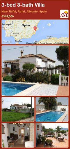 3-bed 3-bath Villa in Near Rafal, Rafal, Alicante, Spain ►€345,000 #PropertyForSaleInSpain