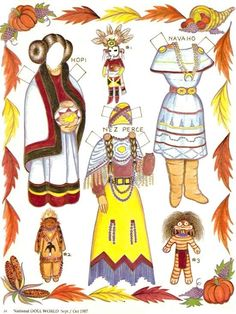 American Indian Paper Dolls | Magazine Paper Dolls - Indian Maiden | Paper Dolls | Pinterest
