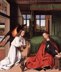 Anunciaciòn, Petrus Christus, Flandes, s. XV- absolutely one of my favorite paintings in any genre, place, or time