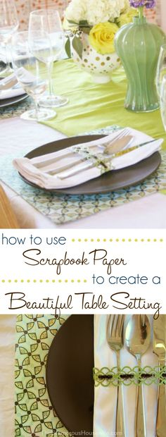 how to use scrapbook paper to create a beautiful table setting