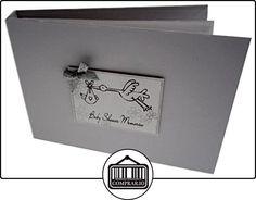 tarjetas de algodón blanco Intervalo de valores Baby Shower Recuerdos Bebé Cigüeña Diseño Tiny Valor Album (plata, Baby shower)  ✿ Regalos para recién nacidos - Bebes ✿ ▬► Ver oferta: http://comprar.io/goto/B013I87FQC