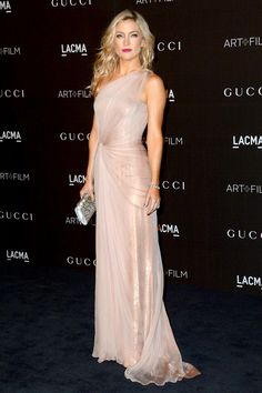 LACMA Art + Film Gala - Kate Hudson in a Gucci pale pink asymmetric gown