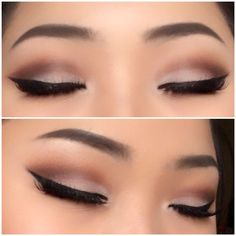 Soft simple cut crease look with a bold winged liner follow me on my personal Instagram shirleyvang101