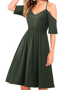 1db5d46464 Regna X BOHO Women s Sleeveless and Cold Shoulder Basic Midi Dress styles)