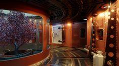 Spacepunk Spaceship Interior 02, me, 2020