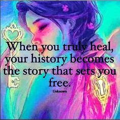 When you truly heal, your history becomes the story that sets you FREE. Spiritual Awakening, Spiritual Quotes, Positive Quotes, Great Quotes, Me Quotes, Inspirational Quotes, Motivational, Cover Quotes, Strong Quotes