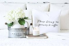 Vintage Farmhouse Home Decor - Beautiful scents in a beautiful farmhouse home! #Magnoliafarms PC: Erica from Our Humble Nest