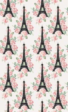 Eiffel tower pattern.iPhone wallpaper: