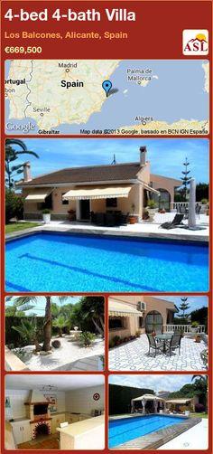 4-bed 4-bath Villa in Los Balcones, Alicante, Spain ►€669,500 #PropertyForSaleInSpain