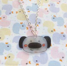 Kawaii Koala Necklace  Black and Grey by NiNEFRUiTSPiE on Etsy, £2.50