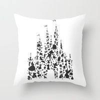 Throw Pillows featuring character castle...  by studiomarshallarts
