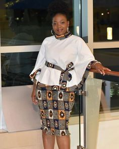 Buying Guide Dashiki Print Flare Sleeve Tops With Belt And Pencil Skirts African Stand Collar Women's Outfits Customize Ankara Groom Suit Ankara Short Gown Styles, Short African Dresses, Latest African Fashion Dresses, African Print Fashion, Latest Ankara Dresses, Ankara Fashion, Lace Skirt And Blouse, Ankara Skirt And Blouse, Long Skirt Fashion