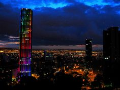Sunset over the city of Bogota.