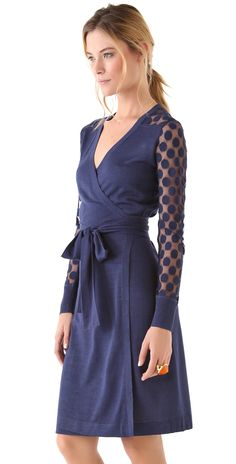 Diane von Furstenberg Linda Lace Polka Dot Wrap Dress | SHOPBOP SAVE 25% use Code: BIGEVENT15
