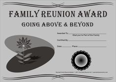 Family reunion ideas family reunion ideas 2015 family for Free family reunion certificates templates