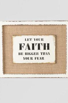 Let Your Faith Burlap Wall Decor $22.00
