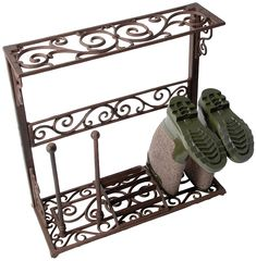 Fallen Fruits Small Cast Iron Boot Rack - Brown ** Click image for more details. #GardenDecor