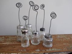 Picture / photo /  card stand from vintage repurposed items. $10.00, via Etsy.
