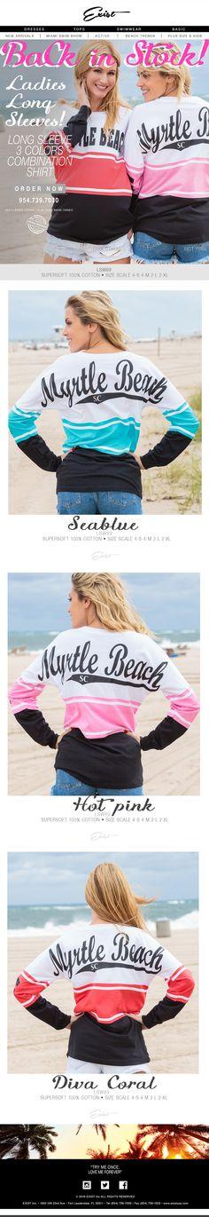 Hottest items of the year! Back in Stock! #existUSA #longsleeve #beachwear #backinstock