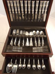 Bamboo by Tiffany Sterling silver flatware set! & Fairfax by gorham sterling silver flatware set service 88 pieces ...