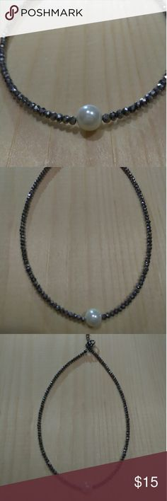 "Choker New choker 12"" hematite color Jewelry Necklaces"