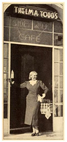 Thelma Todd at her Cafe