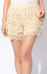 Lace Shorts a la S/S 2012 trends - more pics of Japanese designer takes on the current lace and sherbet colouring trend here!