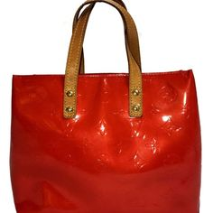 ab9bf589ae97 Louis Vuitton Red Vernis Reade PM Tote. Too Cute! Discount Price