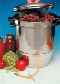 Canning Equipment & Supplies - Norpro Food Strainer Back to Basics Aluminum Steam Juicer Victorio Steamer/Juicer Back to Basics Cherry Stone. Steam Juicer, Bosch Mixer, Canning Equipment, Best Juicer, Organic Fruit, Delicious Fruit, Canning Recipes, How To Make Bread, Gourmet
