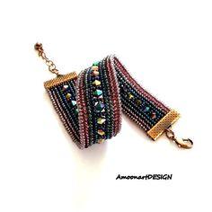 Bracelet Handmade Beadwork Jewelry Blue Beaded Bracelet