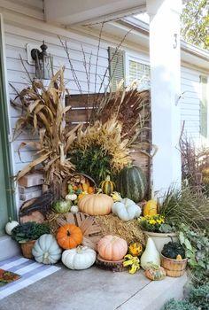 Fall Halloween, Halloween Decorations, Pumpkin, Wreaths, Autumn, Home Decor, Pumpkins, Decoration Home, Door Wreaths