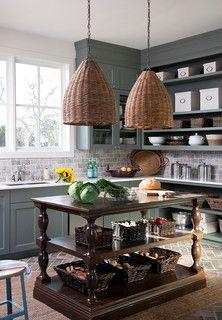 Southern Living Showcase House- Interior Tour - Heather Scott Home & Design Green Kitchen Cabinets, Gray Cabinets, Bohemian Kitchen, Southern Living Homes, Kitchen On A Budget, Prep Kitchen, Kitchen Ideas, Updated Kitchen, Kitchen Updates