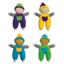 Excellerations® Multicultural Velour Soft Babies - Set of 4