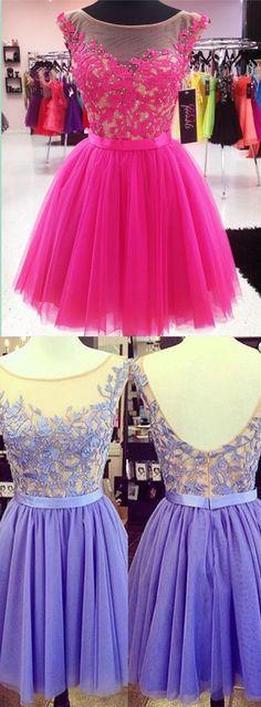 Appliques Homecoming Dresses,Pretty Party Dress,Charming Homecoming Dress,Graduation Dress,Homecoming Dress,Short Prom Dress