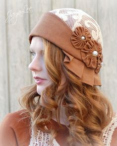 Autumn Cloche Hat 1920s style in Rust and by GreenTrunkDesigns