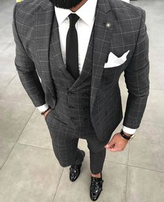 wedding suits men You need a watch thats - wedding Mens Fashion Blazer, Suit Fashion, Flannel Fashion, Fashion Outfits, Fashion Edgy, Fashion Hats, Formal Suits, Men Formal, Formal Wear