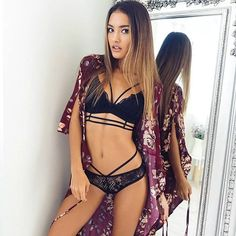 YOINS Black Sexy Strappy Lace Bralette Top Regular fit Spaghetti Strap Lace Details - intl   Lazada Indonesia