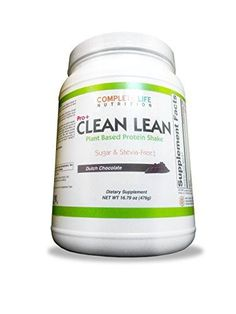 Clean Lean Low Carb Meal Replacement Shake - B Vitamin Packed - Vegan Pea Protein - Paleo with No Artificial Sweeteners (Dutch Chocolate - Monk Fruit) Weight Loss Shakes, Weight Loss Drinks, High Protein Drinks, Natural Cleanse, Liver Cleanse, Plant Based Protein, Healthy Women, Vitamins And Minerals, Herbalism