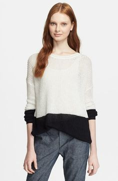 Vince Colorblock Drop Shoulder Sweater available at #Nordstrom