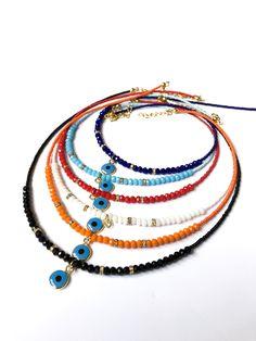 Evil Eye Jewelry, Evil Eye Necklace, Seed Bead Necklace, Evil Eye Bracelet, Seed Bead Jewelry, Beaded Jewelry, Beaded Necklace, Beaded Bracelets, Seed Beads