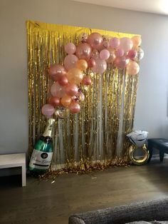 Anniversary Party Decorations, Kids Party Decorations, Anniversary Parties, Balloon Decorations, 18th Birthday Party, Unicorn Birthday Parties, Moana Birthday Party, Birthday Balloons, Champagne Balloons