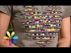 We update an old t-shirt, an undershirt - awaking All to dobra - Release 615 - // Мелисса Ланджуева Sewing Tutorials, Sewing Hacks, Sewing Patterns, Fabric Crafts, Sewing Crafts, Sewing Projects, Sewing Clothes, Diy Clothes, Ropa Upcycling