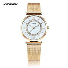 Super Slim Gold Mesh Stainless Steel Watches Women Top Brand Luxury Casual Clock Woman Wrist Watch