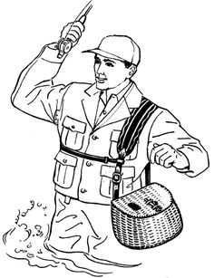 Ice Cube Coloring Page  Ice Fisherman Stuck In Block Of Ice