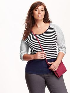 Women's Plus Colorblock Sweaters