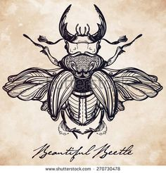 geometric patterns triangle tattoo beetle - Google Search