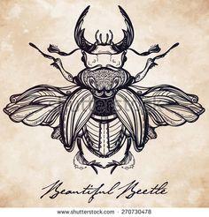 geometric patterns triangle tattoo beetle - Google Search
