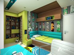Modern Teenage Bedroom by Adoro Design
